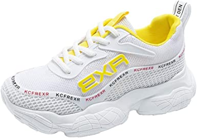 Zapatillas Deportivas para Mujer, Ligeras, para Correr, Caminar, Casuales, de Punto, para Entrenamiento, para Caminar, con Cordones, 5 M US, Blanco: Amazon.es: Deportes y aire libre