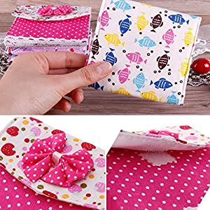 Ownsig 2Pcs Portable Sanitary Napkins Pouch Bowknot Sanitary Pad Holder Random Color