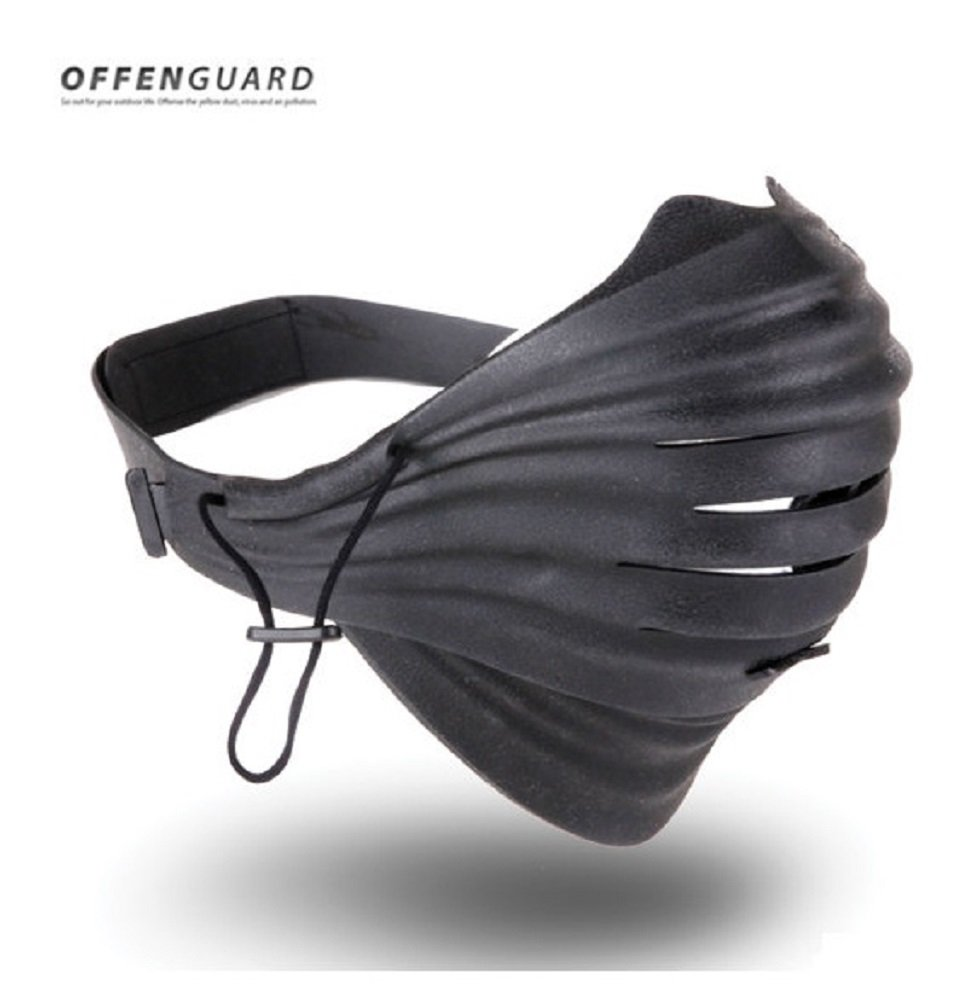 Offenguard Mask Sports Special Edition Anti-Pollution Bicycle Cycling Dust Filter Face Mask with 10 Refill Mask Filter, 2 Filter Frame / Made in Korea (Black) by Offenguard