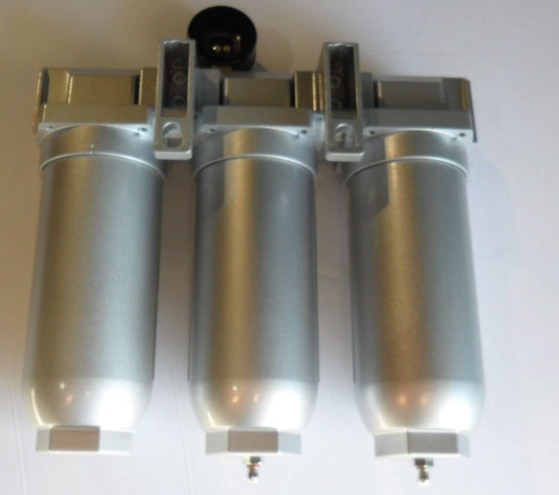 3//4 MANUAL DRAIN COALESCING FILTER HEAVY DUTY INDUSTRIAL 3 STAGE COMPRESSED AIR CLEANER MOISTURE TRAP DESICCANT DRYER