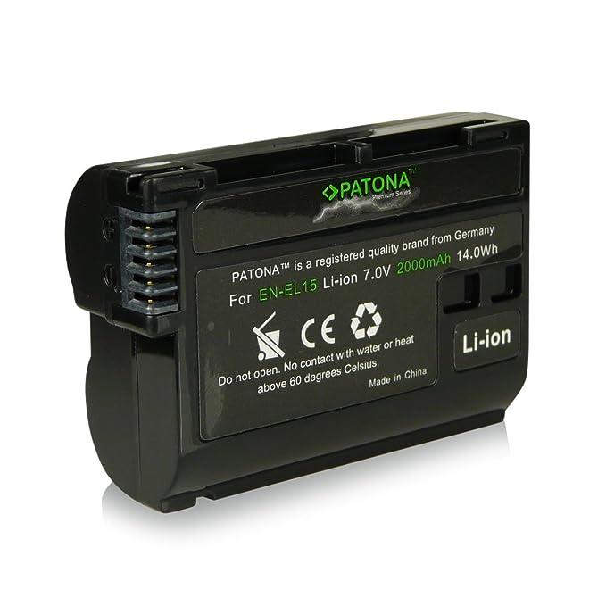 3en1 Cargador + Premium Batería EN-EL15 ENEL15 para Nikon 1 V1 ...