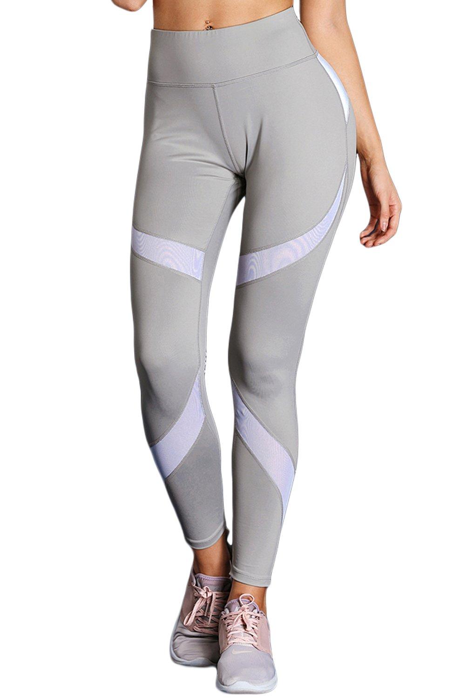 Ytwysj Yoga Pants for Women,Colorblock High Waist Tummy Control Yoga Pants Sport Workout Pants Active Leggings
