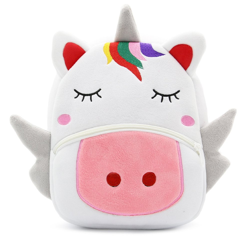 Cute Toddler Backpack Toddler Bag Animal Cartoon Mini Travel Bag for Baby Girl Boy 1-6 Years (Unicorn)