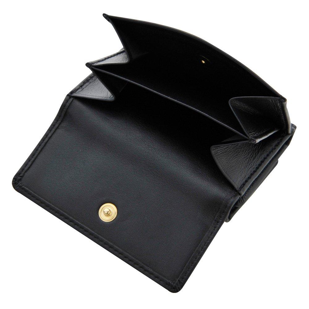 a32e4ba2899e Amazon   小型三つ折り財布 カウハイド 牛革 仕切りつき小銭入れ BECKER(ドイツ)   BECKER(ベッカー)   財布