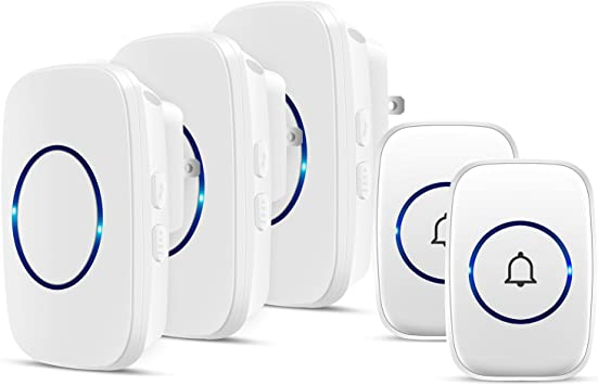 Mosiso Wireless Door Bell Portable Home Cordless Door Chime Kit 1000-Feet Range