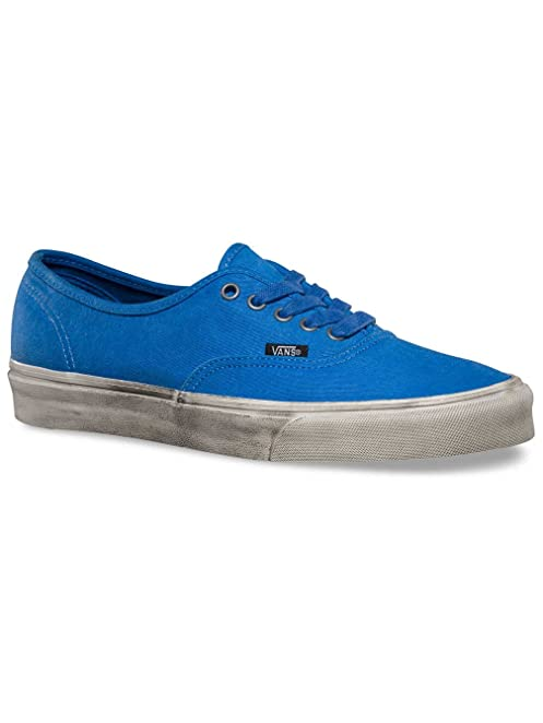 Unisex Authentic Overwashed Slim Skate Shoe-Nautical blue/True White-10
