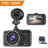 Dash Cams For Cars Front and Rear Full HD 1080P Backup Car Camera, CLAONER Dual Dash Cam with Night Vision, 3 Inch IPS Screen, 170° Wide Angle, Loop Recording, G-sensor, Motion Detection, Parking Monitor