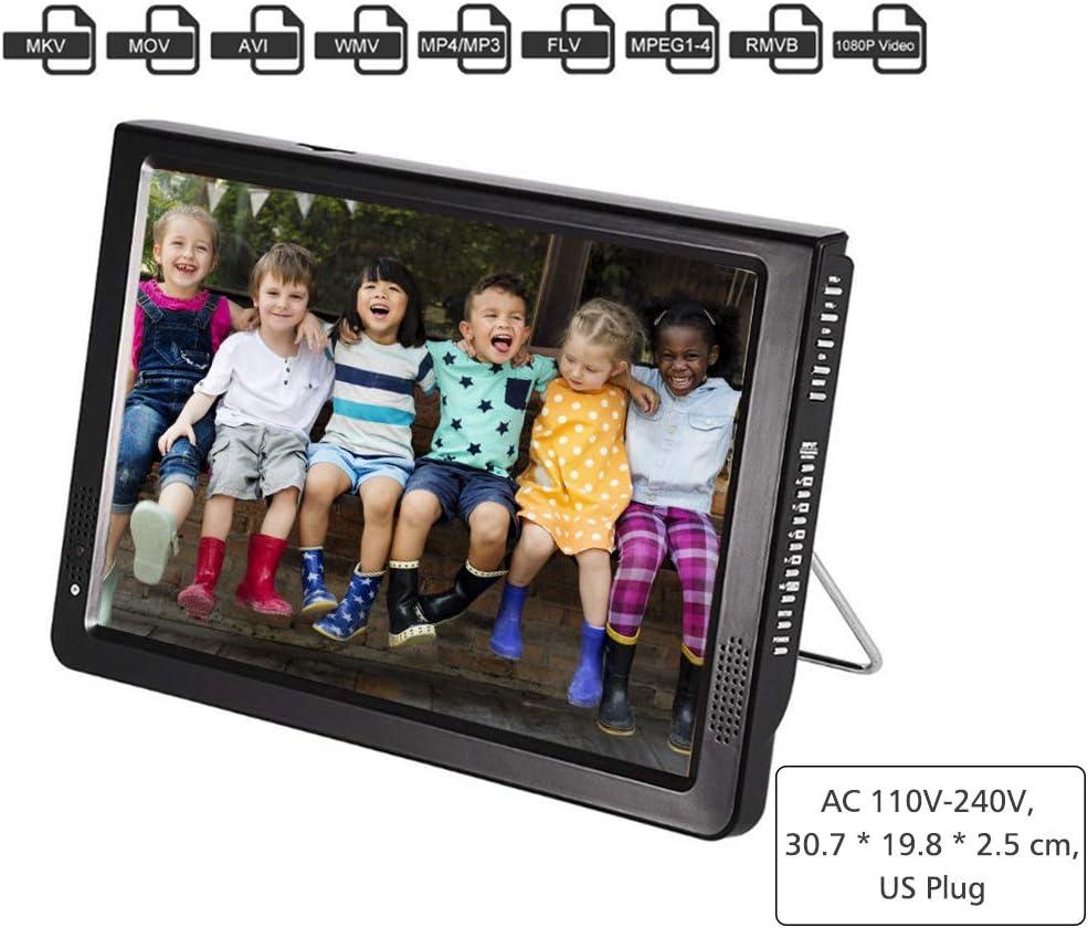 Acogedor Portable Digital TV,12-Inches ATSC Digital Television,Small TV,1080P HD HDMI Video Player ,for Home,Car,etc.