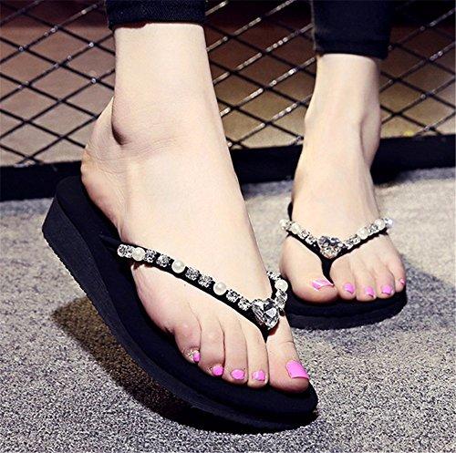 da scarpe a clip spesso 2018 piede outdoor diamante pantofole antiskid fondo ladies' flip libero tempo moda estate spiaggia flop FLYRCX HT0qBfaq