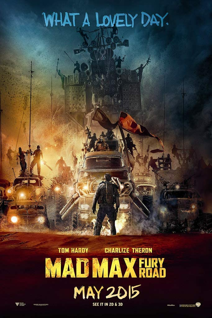 """Mad Max: Fury Road Movie Poster 24""""x36"""" (33.02 x 48.26 cm) This is a Certified Poster Office Print with Holographic Sequential Numbering for Authenticity."""