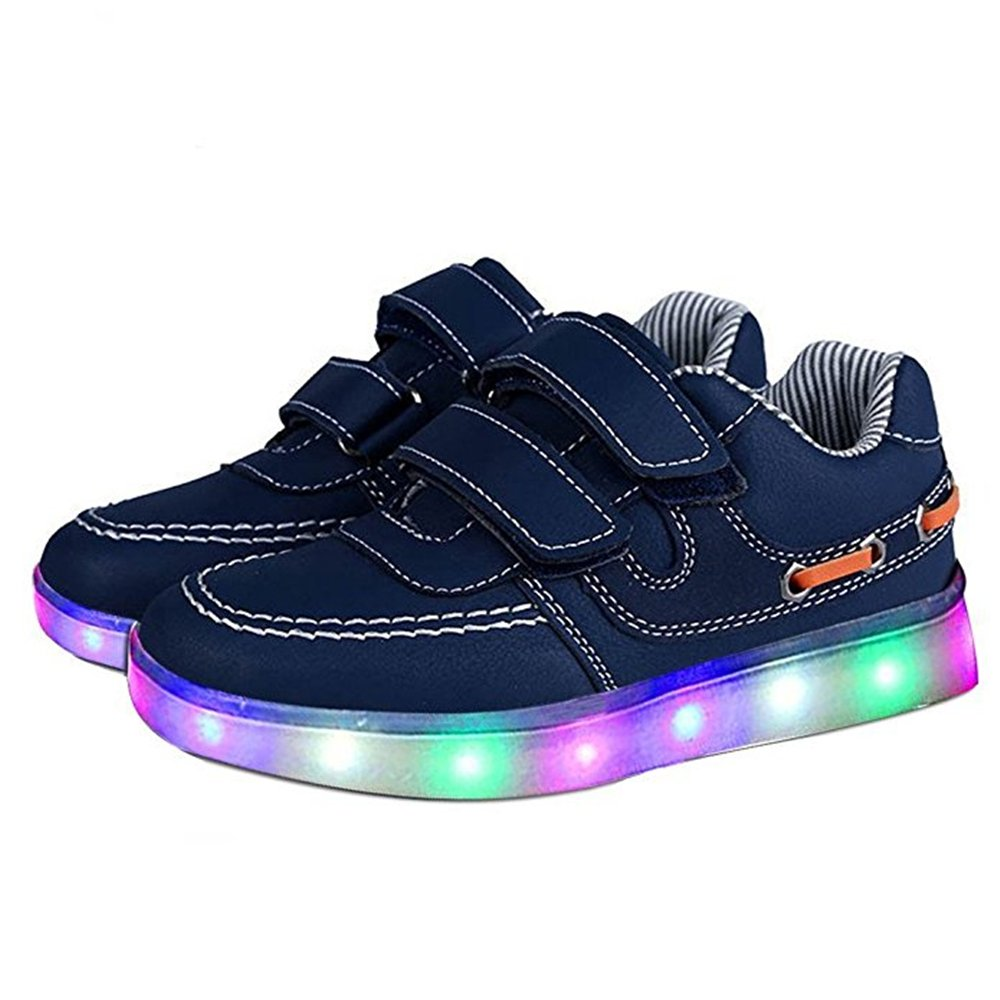xiaoyang LED Light Up Shoes USB Charging Flashing Sneakers for Kids Boys Girls