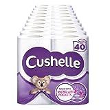 Cushelle Toilet Tissue White 4 Rolls (Pack of 10, Total 40 Rolls)