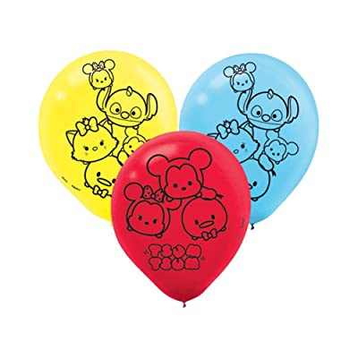 Amscan Disney Tsum Tsum Party Supplies Latex Balloons (6): Toys & Games