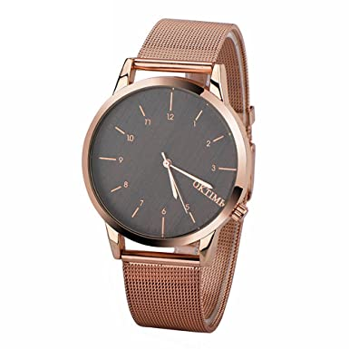 Para hombre Metal reloj, hosamtel macho niños Business Casual analógico reloj de pulsera para hombre