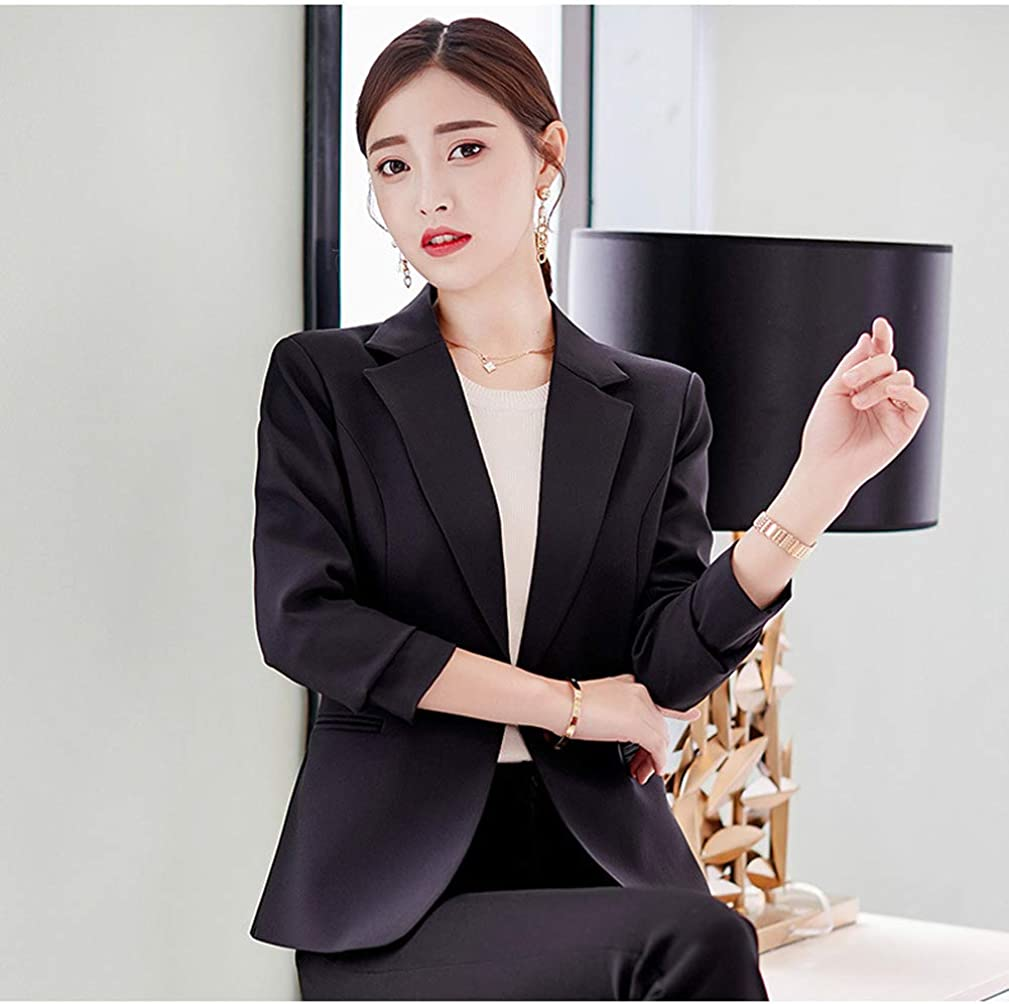 ORANDESIGNE Donna Elegante Manica Lunga Colletto Cappotto Ufficio Business Blazer Top Gilet Corto OL Carriera Giacca Cardigan