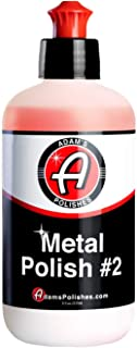 product image for Adam's Metal Polish - for Aluminum, Chrome, Stainless, Uncoated Metals & Other Auto Part Accessories - Polish #1 Restores Neglected Metals - Polish #2 Achieves Perfection (Metal Polish #2)