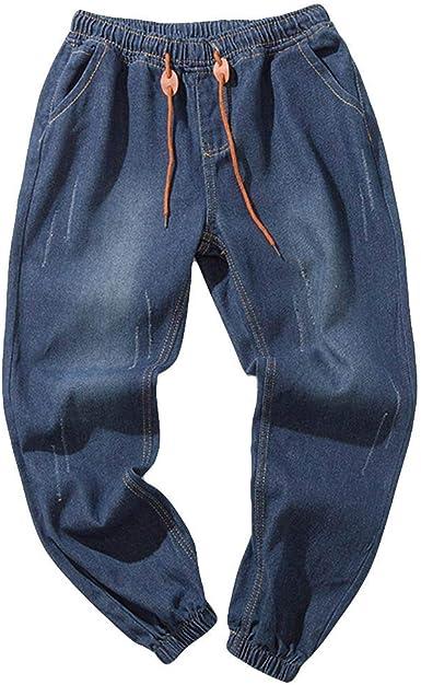 Vpass Pantalones Vaqueros Para Hombre Pantalones Hombre Tallas Grandes Pantalones Casuales Moda Jeans Sueltos Ocasionales Elasticos Fitness Pants Largos Pantalones Ropa De Hombre Amazon Es Ropa Y Accesorios