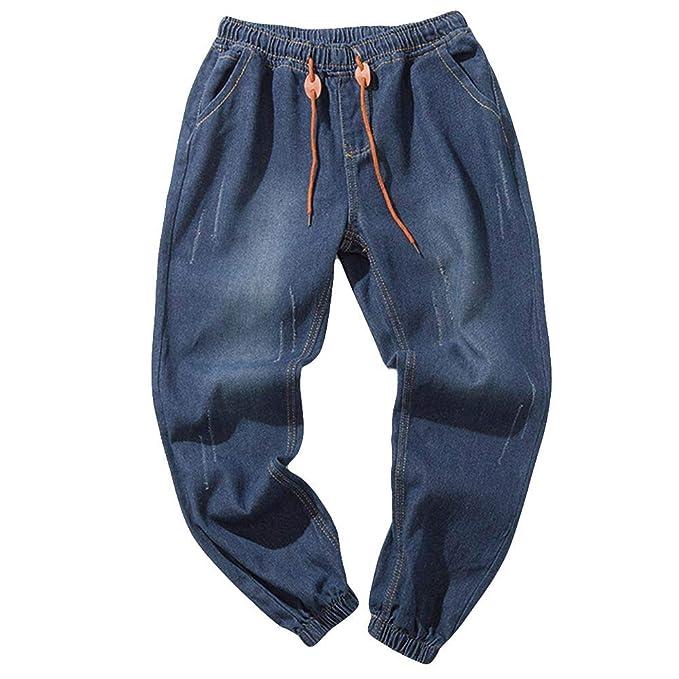Manadlian Pantalones Casuales de los Hombres Jeans Vaqueros ...
