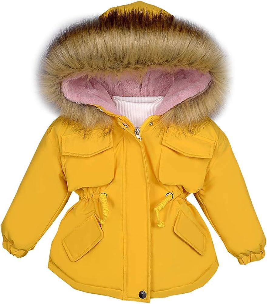 LPATTERN Kinder Winterjacke Jungen Wintermantel mit Fellkapuze Winddicht Warme Verdicken Winter Mantel Parka Outdoorjacke