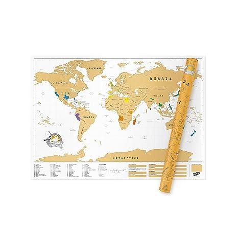 Large World Map Amazon.Amazon Com Extra Large World Scratch Map Personalized World