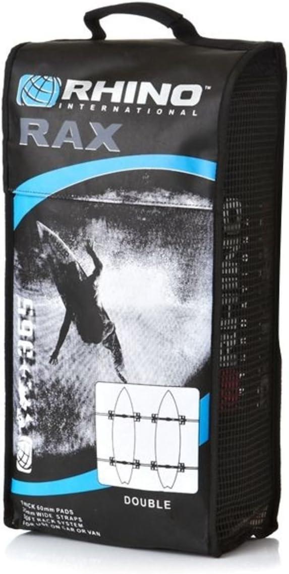 Rhino Double Rax - Portatablas de surf para el techo del coche, color negro: Amazon.es: Deportes y aire libre