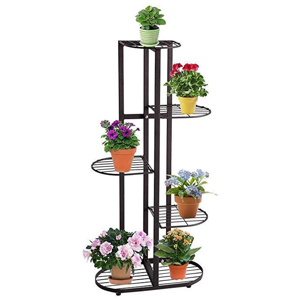 Ganxie 6 Tier Metal Plant Stand Flower Holder Pot Display Pots Holder for Indoor Outdoor Use Black by Ganxie