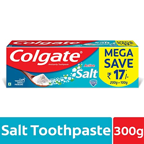 Colgate Toothpaste Active Salt - 300 g (Natural - Saver Pack)