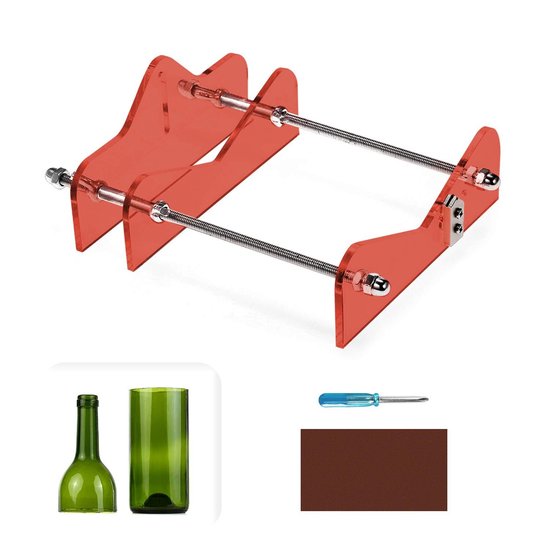 rojo Hecho de Acr/ílico y Metal Cortador de Botellas de Vidrio Profesional,Herramientas Botellas de Corte,Corte M/áquina de Vino Cerveza
