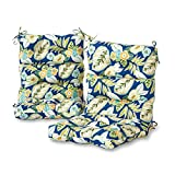 Greendale Home Fashions Indoor/Outdoor High Back Chair Cushions, Marlow, Set of 2