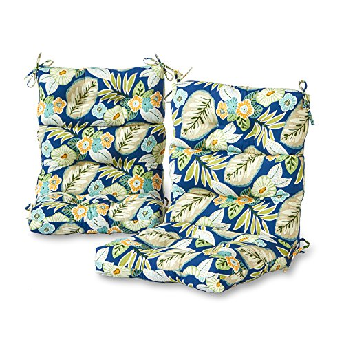 Greendale Home Fashions Outdoor High Back Chair Cushion (set of 2), Marlow by Greendale Home Fashions