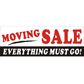amazon com 2ftx5ft moving sale everything must go banner sign