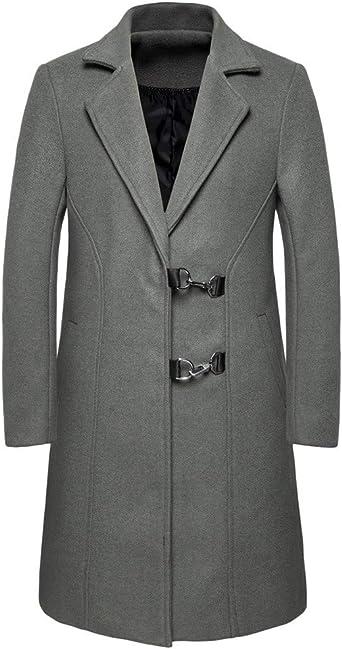Longra Invierno Otoño Paño Hombre Negocio Largo Delgado Hombre Abrigo cálido Gabardina Moda Chaqueta Outwear: Amazon.es: Relojes