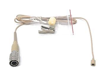 Beige omnidireccional micrófono lavalier de solapa de corbata para ...