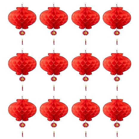 Chinese Red Paper Lanterns New Year Red Hang Chinese Lantern
