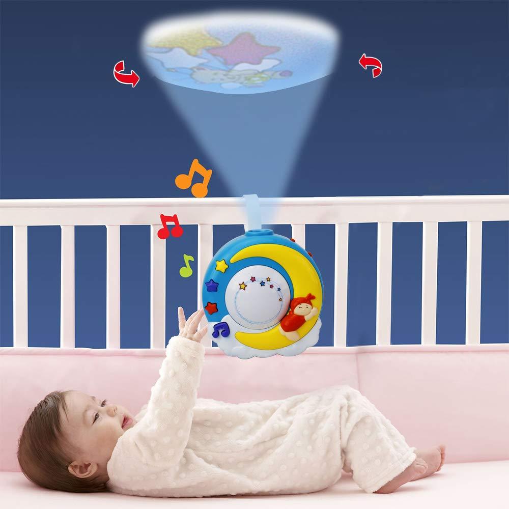Proyector musical Wishtime para cuna de bebé, proyector de noche ...
