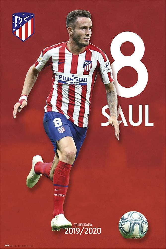 Grupo Erik Póster Saúl Atlético de Madrid, 2019/2020, Multicolor, 91 x 61 cm