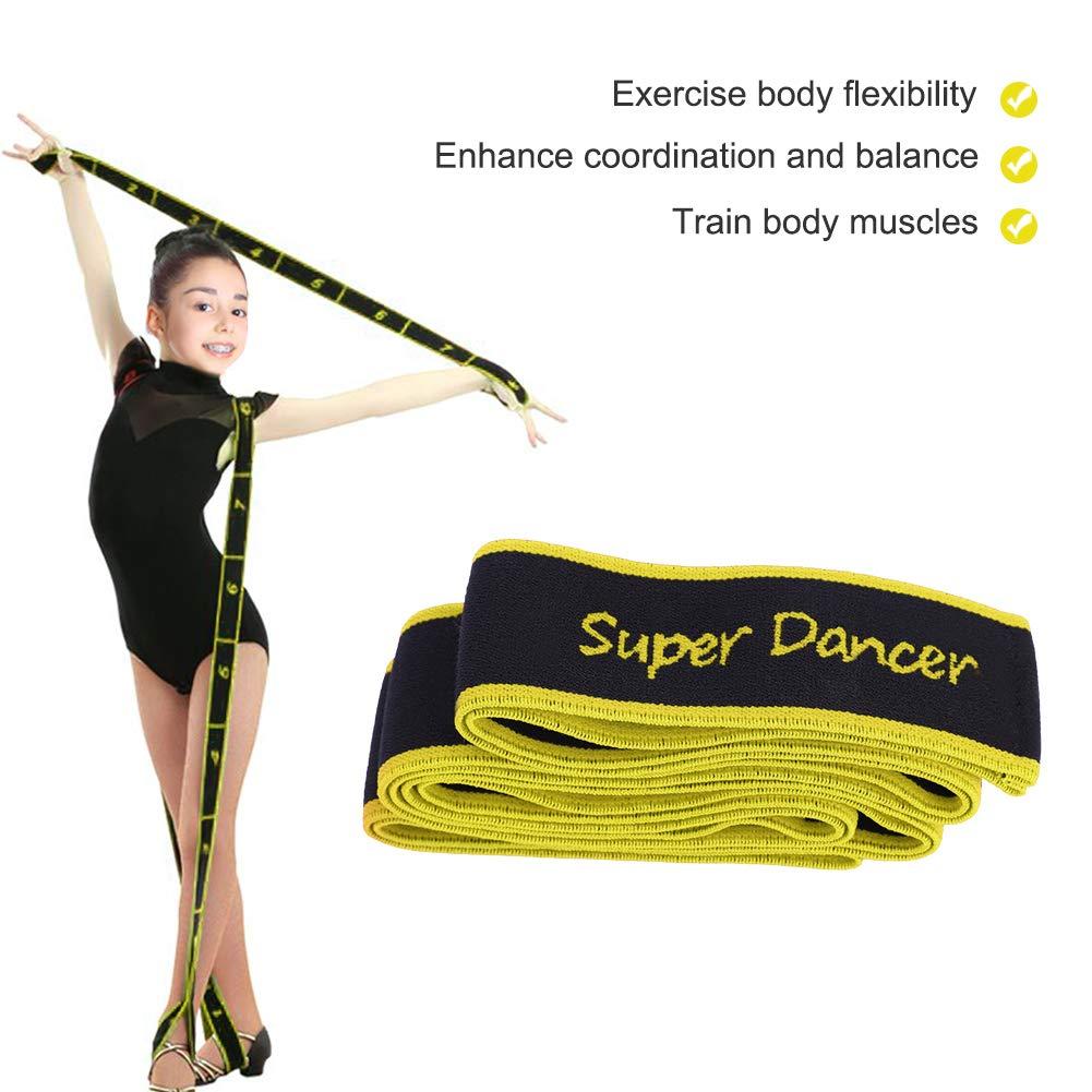 Tirant sur la Sangle /étirement /élastique Exercice de Remise en Forme Ceinture Gymnastique Sportive Dioche Bande de R/ésistance de Yoga Danse Latine