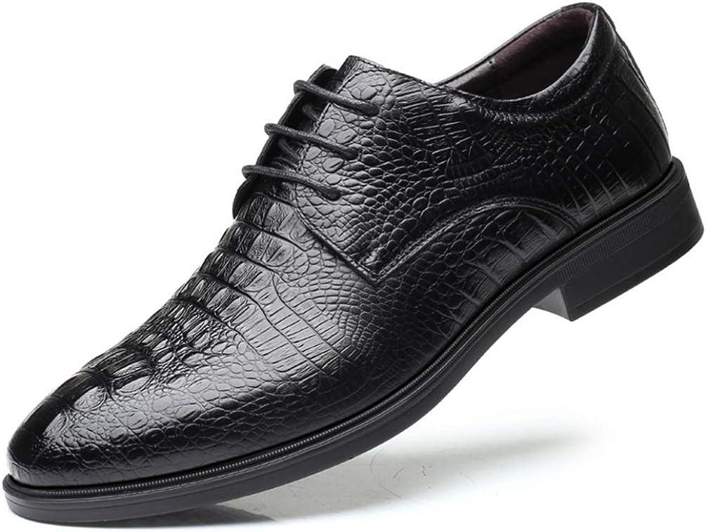 Zapatos Oxford para Hombres Clásicos con Estampado De Cocodrilo Zapatos De Vestir De Negocios Punta Estrecha con Cordones Fiesta De Boda Mocasines Zapatos Brogues