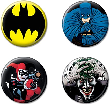 "DC Buy 2 Get 1 Free Red Hood Logo Batman 1/"" Pinback Button Pin"