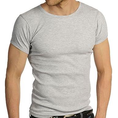 c694154e Raiken Ribbed Crew Neck T-Shirt: Amazon.co.uk: Clothing