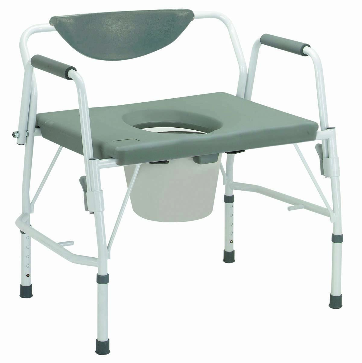 11135-1 - Bariatric Drop Arm Bedside Commode Chair by Drive Medical