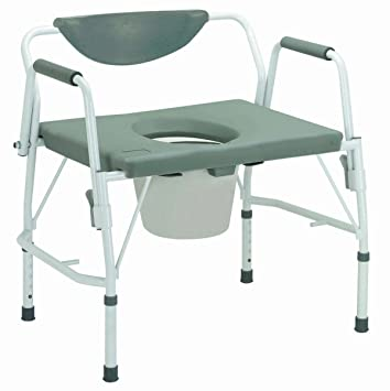 Amazon.com: 11135-1 - Bariatric Drop Arm Bedside Commode Chair ...