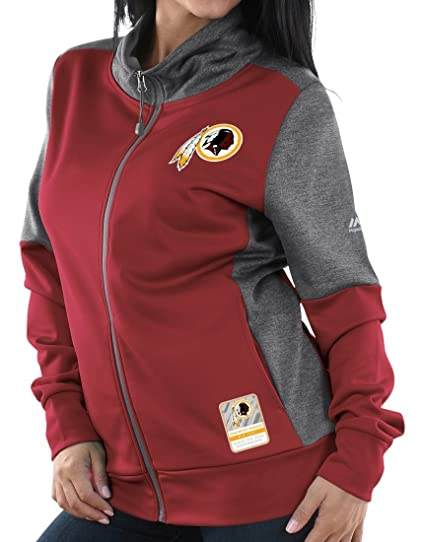 newest 38f70 56a1a Amazon.com : Majestic Washington Redskins Women's NFL Quick ...