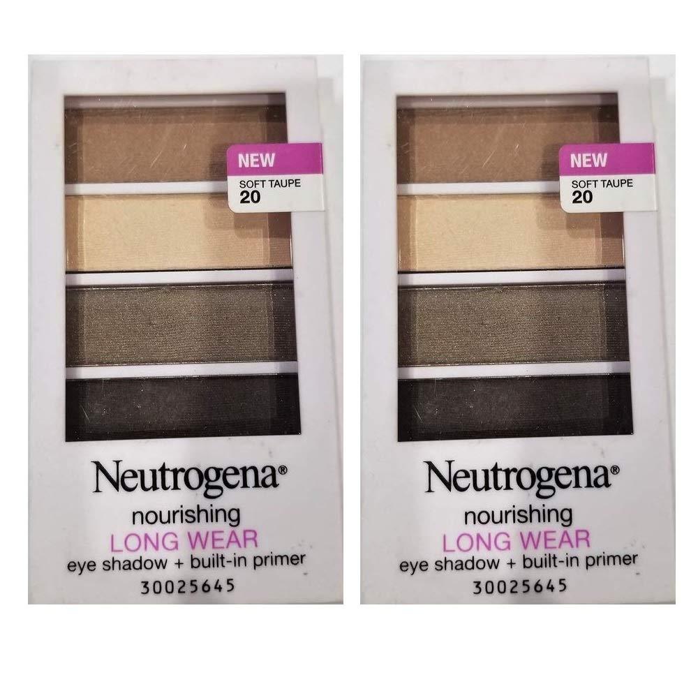 Pack of 2 Neutrogena Nourishing Long Wear Eye Shadow + Built-In Primer, Soft Taupe 20