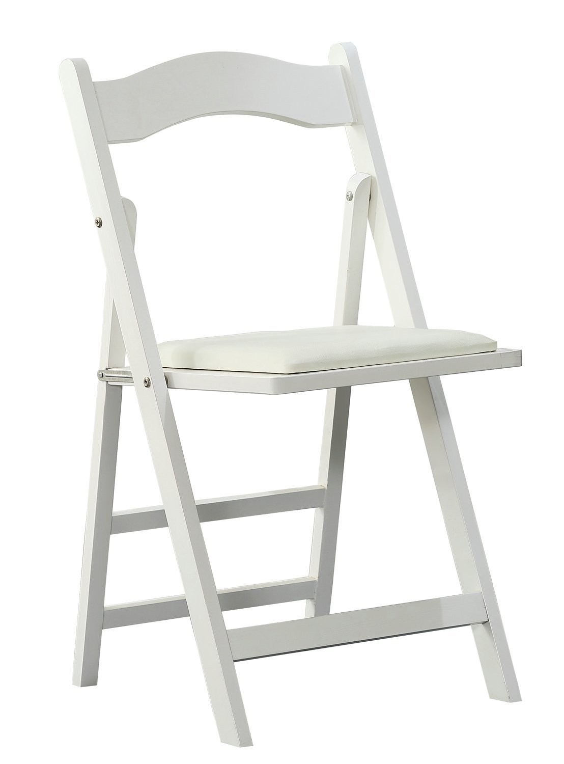 Orolay Wood Folding Chairs Dinning Chair Office Chair (White)