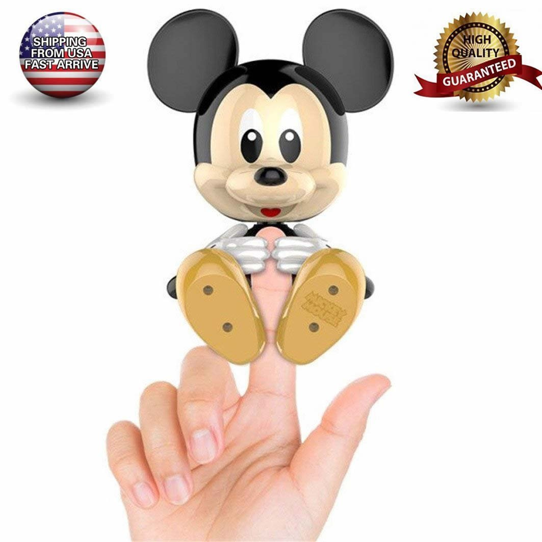 Solovely Fingers Interactive Baby Pet, Kids Cute Talking Finger Intelligent Electronic Pet Toys, Mini BFFs Mickey Finger Squirres Toy, Birthday for Girls Boys Child