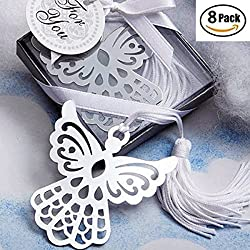 8 Pack Fashion Craft Angel Bookmark Favors,Wedding Favors Gifts,Gift Boxed Book Lovers Collection Angel Bookmark