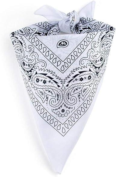 Camino del pañuelo Bandana de algodón Paisley – Color blanco ...