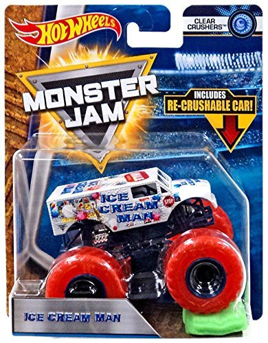 Hot Wheels Monster Jam 2018 Clear Crushers Ice Cream Man (Includes Re-Crushable Car) 1:64 Scale for $<!--$25.63-->