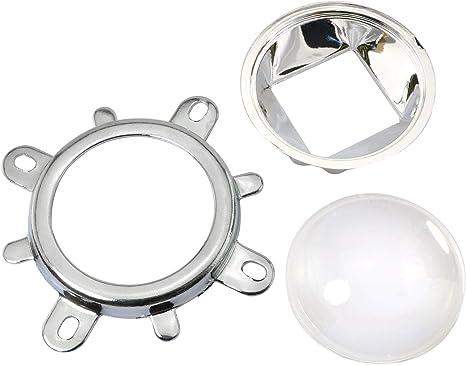 50mm Reflector Collimator Base Housing ToToT 1Set 120 Degrees 44mm Lens Fixed Bracket for 20W-100W LED Light Lamp Lenses LED Reflector Cup Kit